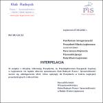 Interpelacja w sprawie uszkodzenia samochodów przez wiatę przystankową przy stacji PKP Legionowo w dn. 6 grudnia 2013 r.
