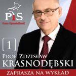 """Zapraszamy na wykład Profesora Zdzisława Krasnodębskiego pt. """"Polski dar wolności"""""""