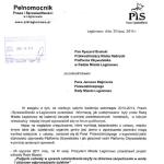 Pismo pełnomocnika PiS w powiecie legionowskim do szefów klubów (PS+NMNS=PO) w Radzie Miasta Legionowo: jak głosowaliście w kadencji 2010-2014?