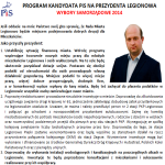 Program kandydata na prezydenta miasta z ramienia PiS Konrada Michalskiego na kadencję 2014 – 2018