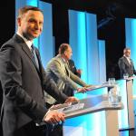 Andrzej Duda na debacie TVP