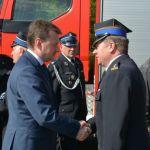 Minister Mariusz Błaszczak z wizytą u strażaków w Markach