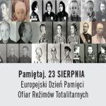 """Europejski Dzień Pamięci Ofiar Reżimów Totalitarnych """"Pamiętaj. 23 sierpnia"""""""