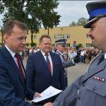 Szef MSWiA podziękował policjantom w Centrum Szkolenia Policji w Legionowie