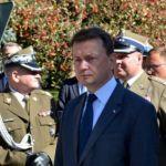 Minister Mariusz Błaszczak na obchodach Święta Centrum Szkolenia Łączności i Informatyki Wojska Polskiego w Zegrzu