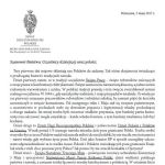 List prof. senatora Jana Żaryna z okazji 1, 2 i 3 maja