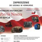 Informacja o III edycji konkursu Patria Nostra