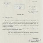 Interpelacja radnego Andrzeja Kalinowskiego w sprawie miejsca zamieszkania prezydenta R. Smogorzewskiego