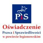 """Oświadczenie Prawa i Sprawiedliwości w powiecie legionowskim ws. startu osób niegdyś związanych z PiS z KWW """"My Mieszkańcy"""""""